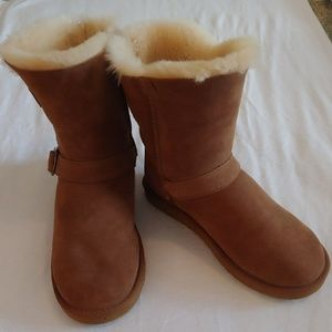 Kirkland Shearling Buckle Boot Size 9